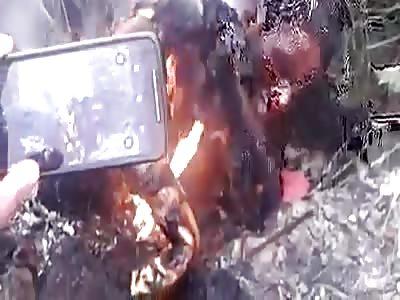 Burning person
