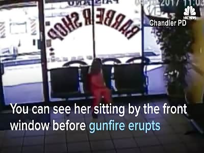 Surveillance Video Shows Girl Narrowly Miss Being Shot