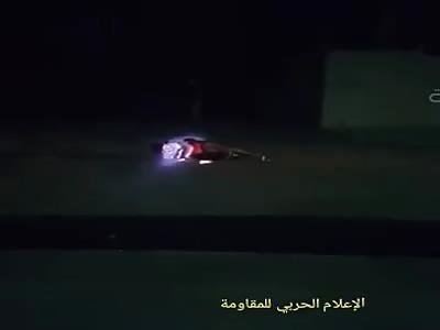 Child with explosive belt being shot dead