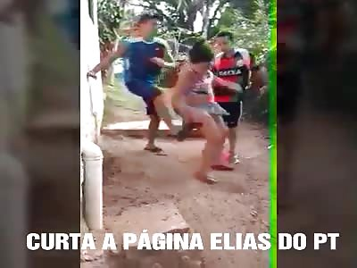 Girl beaten by bandits