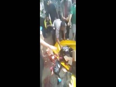 biker hit by truck