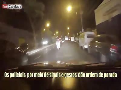 Brutal accident with biker bandits