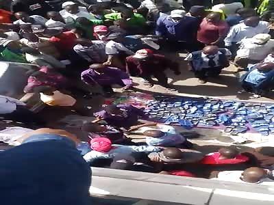 brutally beaten man in africa