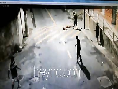 Brutal  execution with shotgun