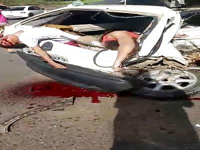 Brutal Accident Creates Human Sardines
