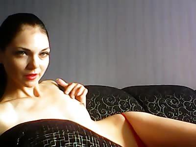 hot sexy brunette slim body