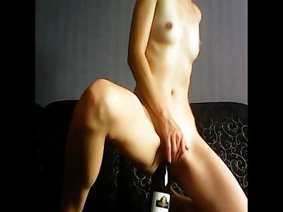 amazing slut cum in a bottle and eat it