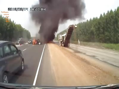 Fatal Russian Crash & Gore EXPLOSIVE