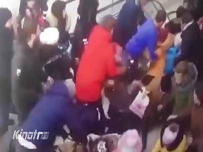 Sucked into the escalator