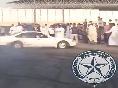 muslim Police raided on car drifter