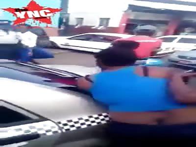 Woman beats Child For Looking Grown Men