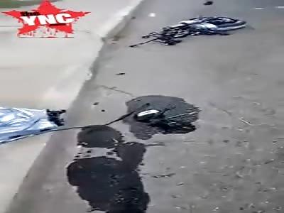 Biker died after falling off a bridge