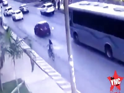 Brazilian  bus kills Cyclist