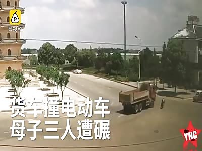 truck vs biker