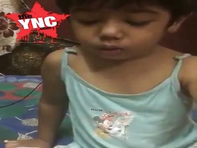 child being punished on Instagram live