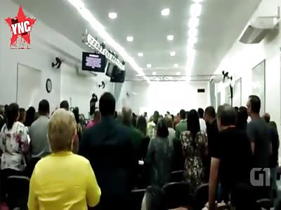 Brazilian knifeman slashes at PRIEST because he 'didn't like sermon