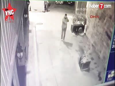 Turkish man shoots at a cat