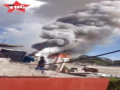 massive  explosion in San Cristóbal de las Casas
