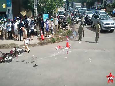A woman died in Binh Duong province