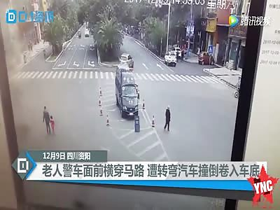 car crushed woman