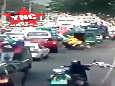 hit & run in the Philippines bike vs student