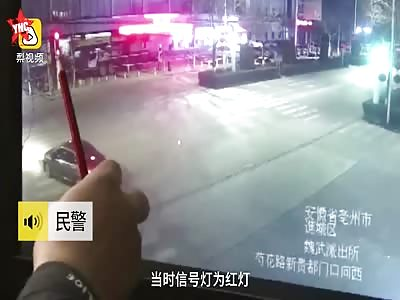 zebra crossing accident in Bozhou