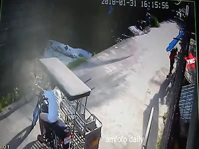 bike accident in east java