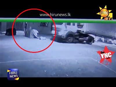 man killed by a truck in Dambulla economic center.