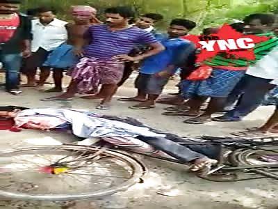 man killed on his bike in Baliapal Orissa
