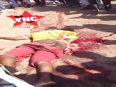 man crushed  by a truck  in  Kampala, Uganda