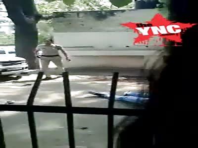 student was shot in  Guru Dronacharya College as youths clash