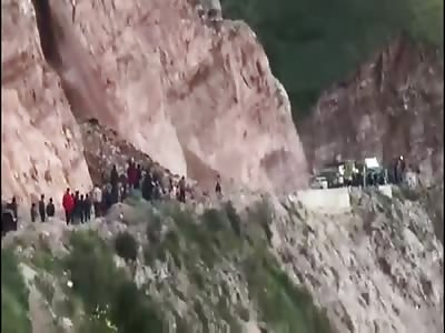 Photographer buried in landslide