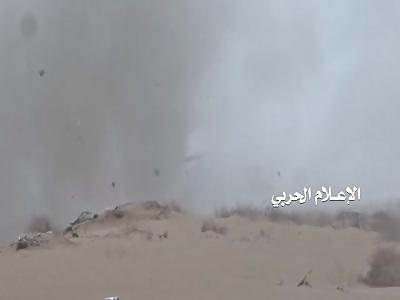 Midi _ engineering unit detonated one of the Saudi armored north of the desert of Midi