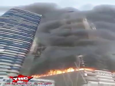 Fire in dubai