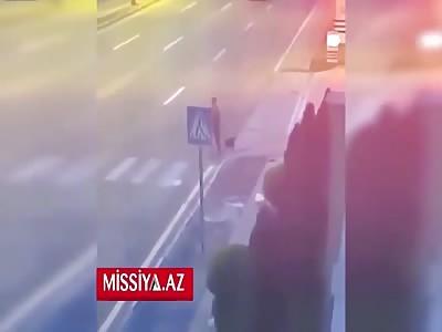 Female Walking Her Dog Get Killed On Crosswalk.(I only feel bad for the dog)
