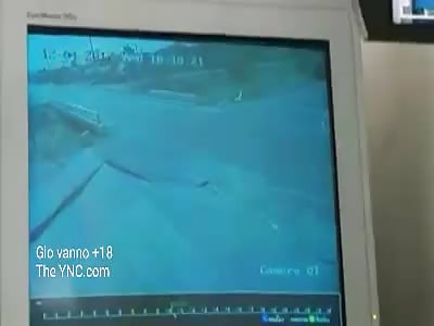 Accident on CCTV.