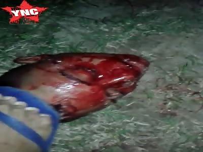Thug was beheaded