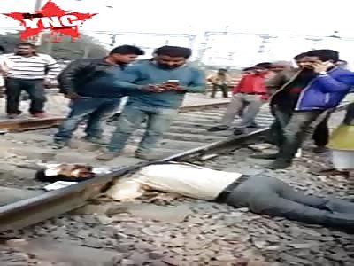 Man had his head cut off by a train