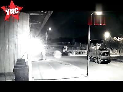 Man taken out by a car