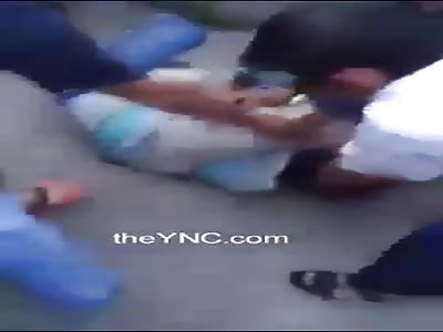 Thief gets beaten up