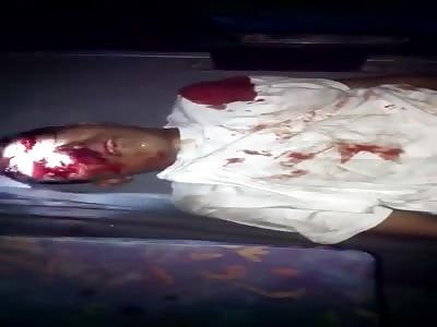 Dead Thief Dragged off a Bus