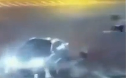 Biker Gets Sent Flying in China
