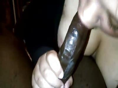 Sucking this dick
