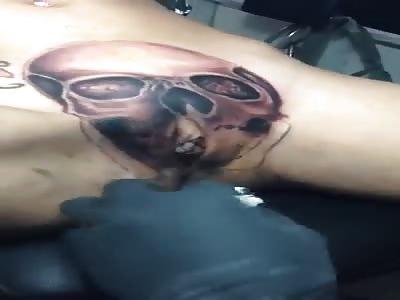 Extreme tatoo pussy