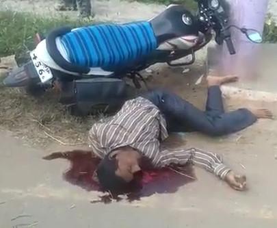Last seconds of a biker