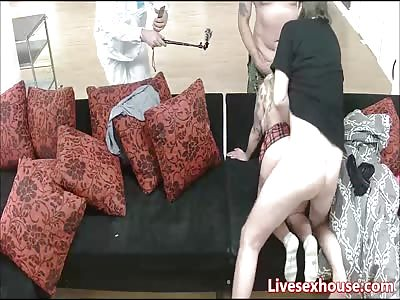 Naughty schoolgirl gets it hard from behind