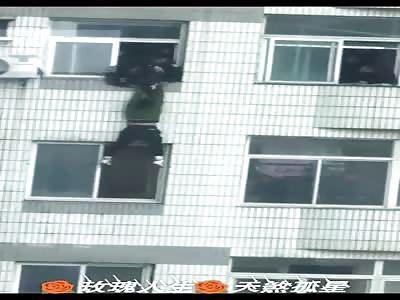 Suicide man falls to his death