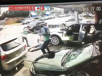 CCTV MURDER: Man takes more than 20 shots