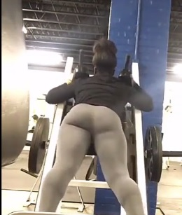 Damn..Girl at the Gym just Had a Rock Hard Ass