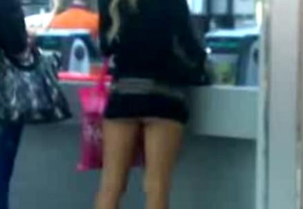 OMFG: Hot Miniskirt Girl Humiliated at McDonalds